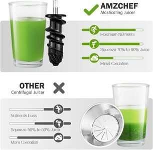AMZCHEF Slow Juicer Extractor