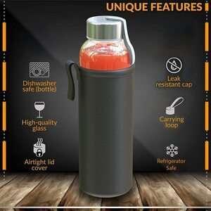 Chef's Star 18-Oz Glass Beverage Bottles