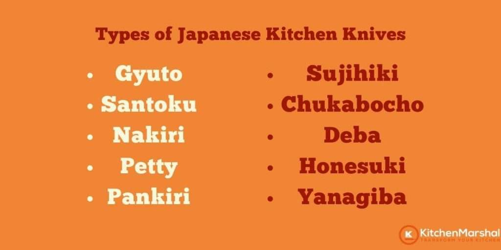 10 Types of Japanese Knives