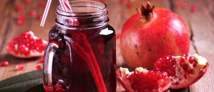 Fresh juice in a Mason jar