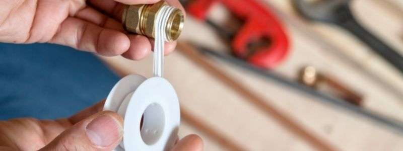 seal the threaded parts with thread tape